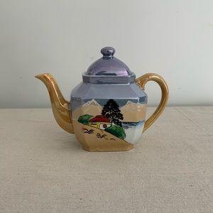 Vintage Iridescent Teapot